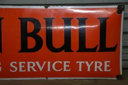 John Bull The Long Service Tyre Enamel Sign