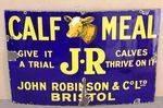 John Robinson Calf Meal Farming Enamel Sign