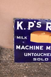 KPs Restaurant Pictorial Enamel Advertising Sign