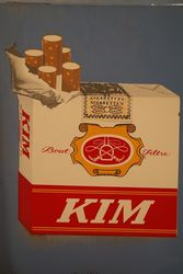 Kim Cigarette Enamel Square Sign