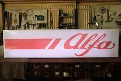 Large 2 Piece Alfa Romeo Dealer Showroom Light Box