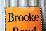 Large Brooke Bond Tea Enamel Advertising Sign