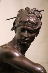 Large C19th Bronze Figure by H Peinte