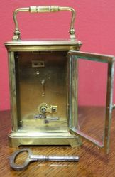 Large C19th French 8 Day Carriage Clock