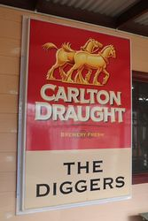 Large Carlton Draught The Diggers Advertising Sign