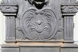 Large Cast Iron Lion Head Wall Fountain