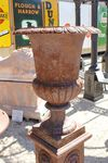 Large Cast Iron Urn Only