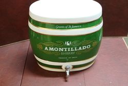 Large Ceramic Amontillado Sherry Dispenser