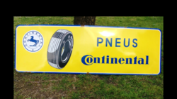 Large Continental Tyreand39s Enamel Advertising Sign
