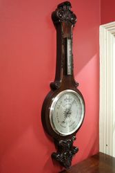 Large Early C20th Banjo Barometer