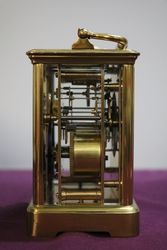 Large French Brass Carriage ClockHalf+One hour 8 Day