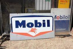 Large Mobil Enamel Advertising Sign
