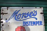 Large Morses Distemper Pictorial Enamel Sign