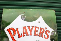 Large Players Pictorial Enamel Advertising Sign