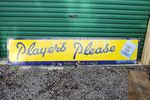 Large Players Please Enamel Sign