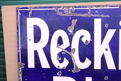 Large Reckitts Blue Starch Advertising Sign