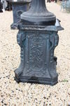 Large Sienna Casrt Iron Urn and  Base
