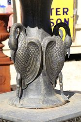 Large Square Base 3 Tier Cast Iron Heron Fountain