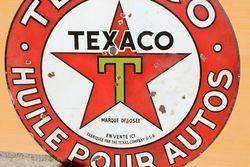 Large Texaco Enamel Advertising Sign