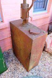 Large and Rare 50 Gallon Hi Boy Oil Dispenser