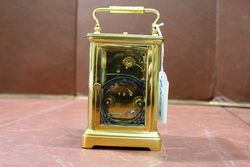 Late 19th Century French Repeater Brass Carriage Clock