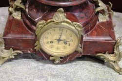 Late 19th Century French Spelter Clockset