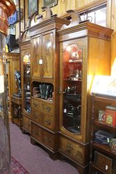 Late 19th Century Mahogany + Satinwood RobeCabinet inlaid