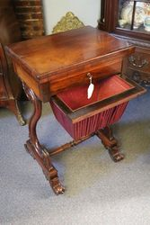 Late Regency Rosewood Ladies Works   Games Table