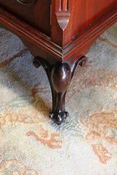 Late Victorian 2 Door Carved Mahogany Display Cabinet C1900