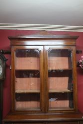 Late Victorian 4 Door Walnut Bookcase
