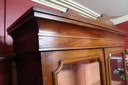Late Victorian 4 Door Walnut Bookcase