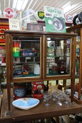 Late Victorian All Glass Antique Collectors Cabinet