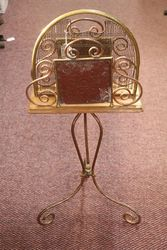 Late Victorian Brass + Copper Magazine Rack C1895