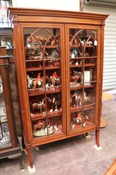 Late Victorian Inlaid Two Door Bookcase
