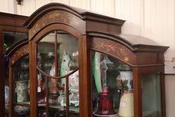 Late Victorian Inlayed Single Door Display Cabinet