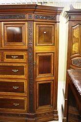 Late Victorian Mahogany Walnut Robe English C1890