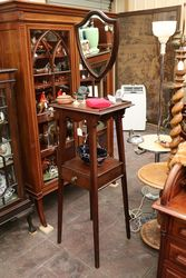 Late Victorian Mahogany Wig Dressing Stand C1900