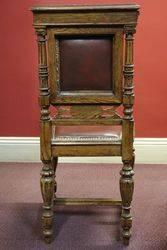 Late Victorian Oak Desk Chair
