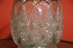 Late Victorian Silver Plated Glass Biscuit Barrel