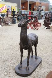 Life Like Cast Iron Stag  SOLD AS PAIR
