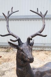 Life size Cast Iron Deer
