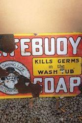 Lifebuoy Soap Enamel Advertising Sign