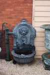 Large Cast Iron Lion Head Wall Fountain.