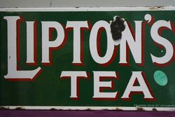 Liptonand39s Tea Double Sided Enamel Advertising Sign