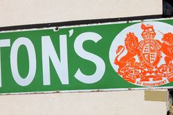 Liptons Tea Strip Enamel Advertising Sign
