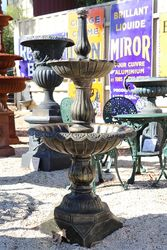 Lisbon Cast Iron 2 Tier Fountain