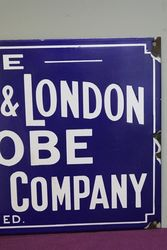 Liverpool and London Advertising Enamel Sign