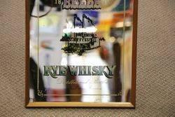 Louisiana Belle Rye Whisky Framed Advertising Mirror