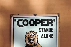 Lovely And Rare Coopers Sheep Dip Enamel Advertising Sign
