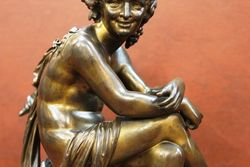 Lovely Seated Bronze Sculpture By Eutrope Bouret 18331906